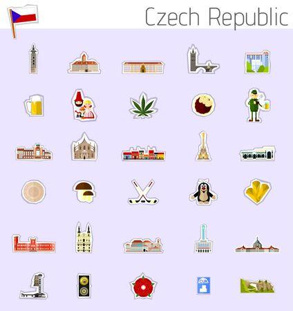 Icone di Repubblica Ceca Vettoriali