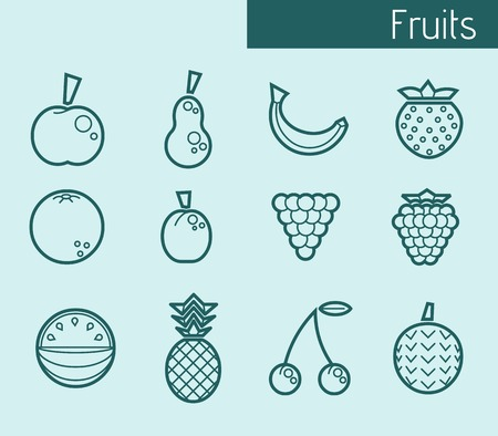 rasberry: Icons of fruits