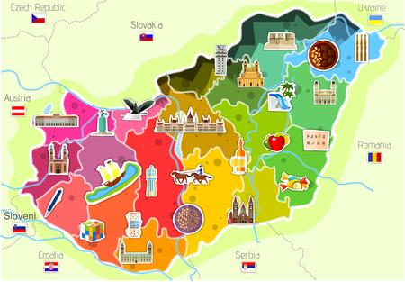 Map of hungary Фото со стока - 81504651