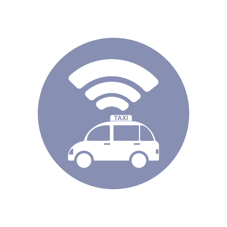 emarketing: WiFi network connection symbol sign icon pictogram for presentation in vector, BYOD connectivity concept, service in TAXI Illustration