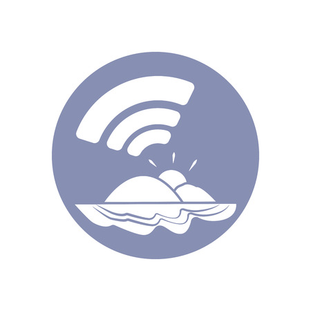 emarketing: WiFi network connection symbol sign icon pictogram for presentation in vector, BYOD connectivity concept, service everywhere Illustration