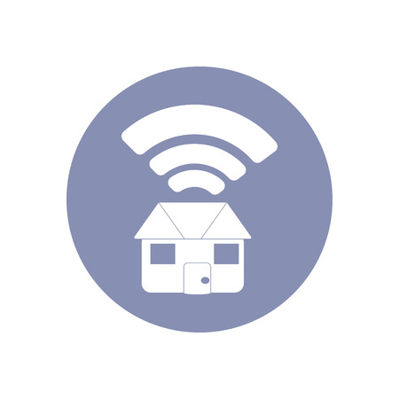emarketing: WiFi network connection symbol sign icon pictogram for presentation in vector, BYOD connectivity concept, service in home or house