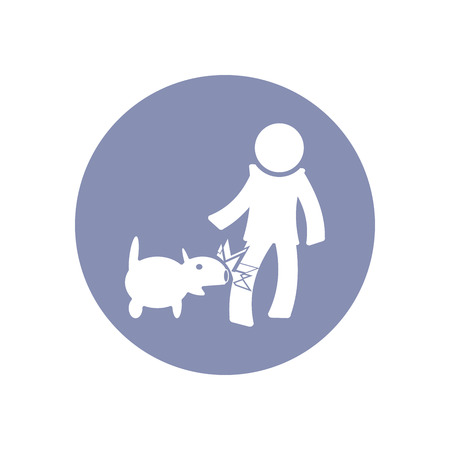 toxic accident: Accident icon Symbol Sign Pictogram, Insurance safety concept pictogram in vector, people bitten by dog