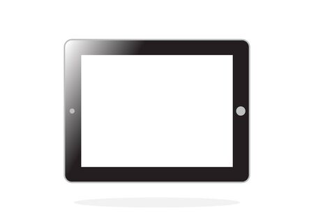 palmtop: tablet pc computer with blank screen isolated on white background in Vector