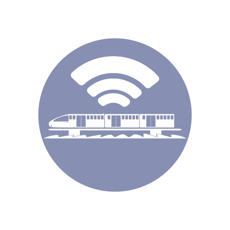 emarketing: WiFi network connection symbol sign icon pictogram for presentation in vector, BYOD connectivity concept, service in train