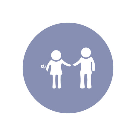 orphan: Man and Woman icon for love romantic family concept in vector Illustration