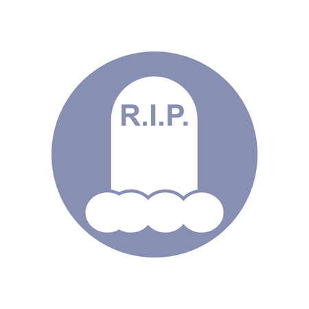 rest in peace: Tombstone With RIP, Halloween tombstone for graveyard landscape with rest in peace inscription, design presentation in vector