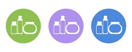 perfume atomizer: perfume bottle flat icon pictogram, for design presentation in vector Illustration