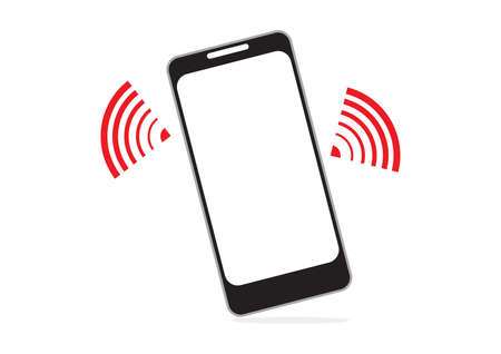 surfing the net: mobile phone and wifi signal for communication concept in vector Illustration
