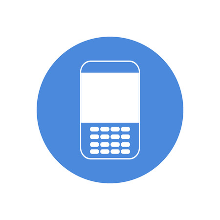 mobile communication: Mobile phone Business communication icon, for design presentation in vector