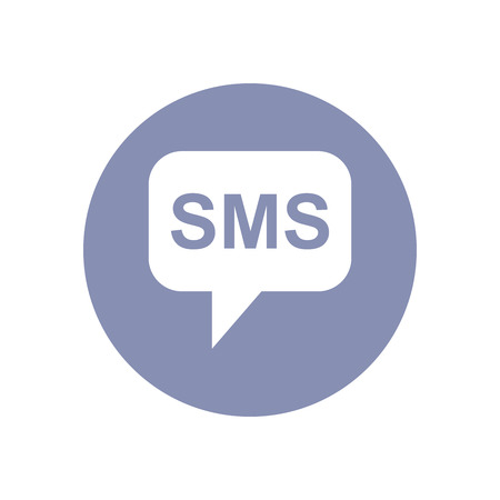 call out: SMS call out, Business communication icon, for design presentation in vector