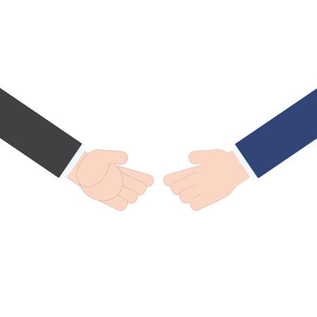 equal opportunity: Businessman business handshake on white background, illustration in flat design