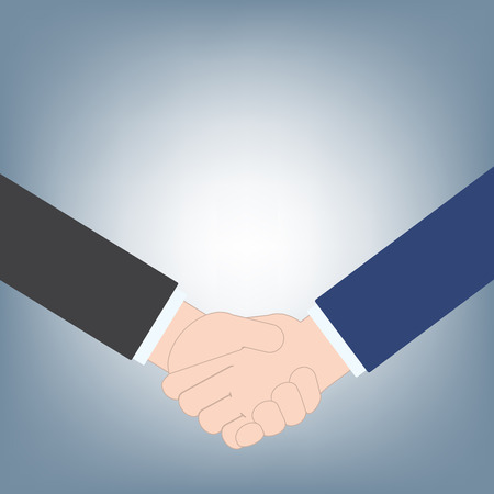 business handshake can use as business background, contract agreement business concept, illustration vector in flat design Ilustrace