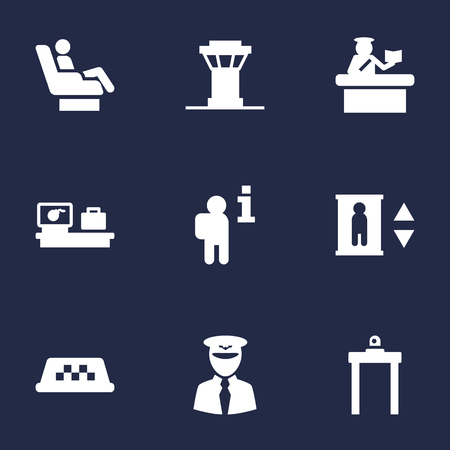 anti terrorist: Set Of 9 Land Icons Set.Collection Of Transporter Car, Data, Vip And Other Elements. Illustration