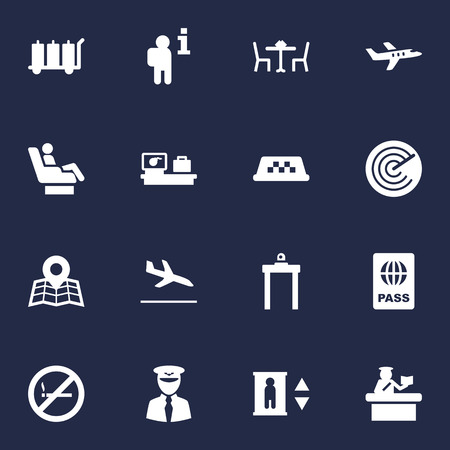 Set Of 16 Land Icons Set.Collection Of Lift, Security, Data And Other Elements.