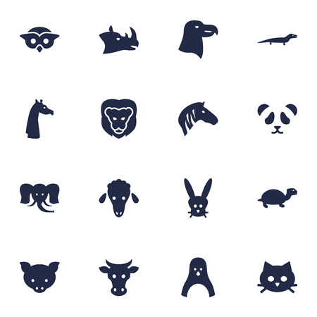 Set Of 16 Alive Icons Set.Collection Of Tortoise, Bird, Kine And Other Elements.