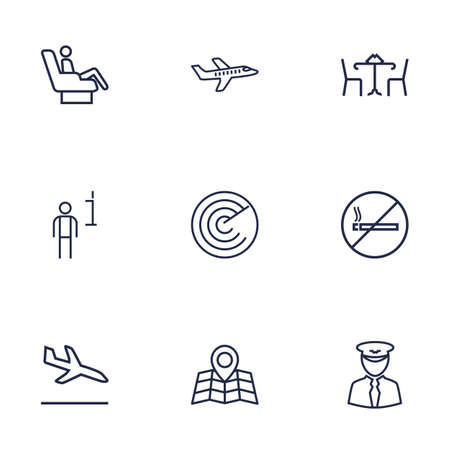 harmful: Set Of 9 Land Outline Icons Set.Collection Of Map, Data, Sit And Other Elements.