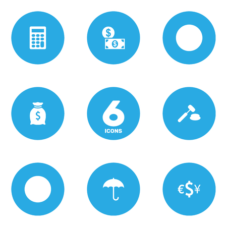 Set Of 6 Budget Icons Set.Collection Of Money, Calculate, Sack And Other Elements. Ilustração