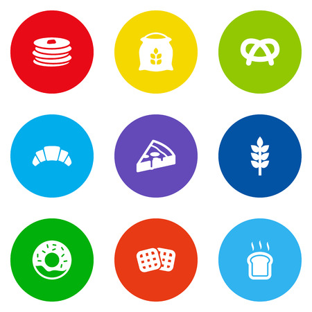 Set Of 9 Cook Icons Set.Collection Of Crepe, Sack, Slice Bread And Other Elements. Illustration