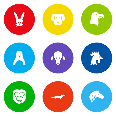 Set Of 9 Brute Icons Set.Collection Of Diver, Rooster, Gecko And Other Elements.