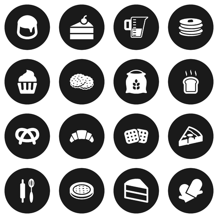 Set Of 16  Icons Set.Collection Of Crepe, Custard, Sack And Other Elements.