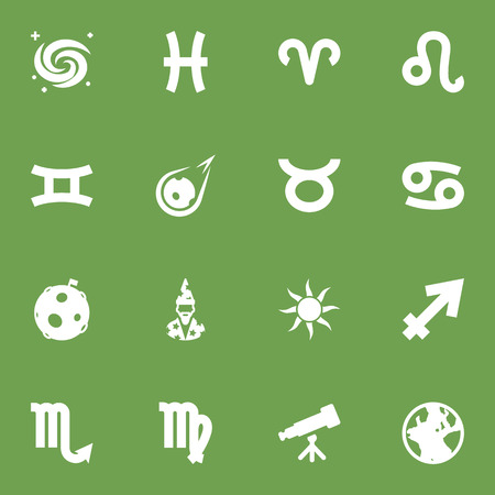 Set Of 16 Astronomy Icons Set.Collection Of Lion, Augur, Earth Planet And Other Elements.