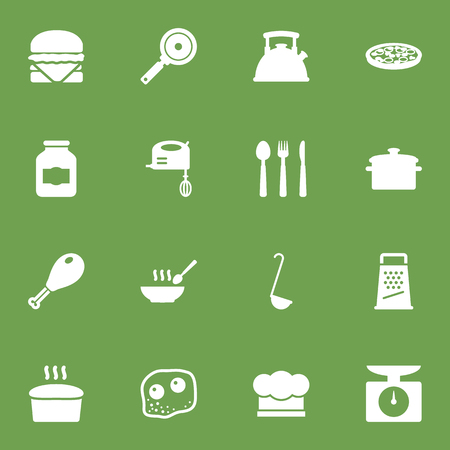 Set Of 16 Culinary Icons Set.Collection Of Broth, Chef Cap, Jar And Other Elements.
