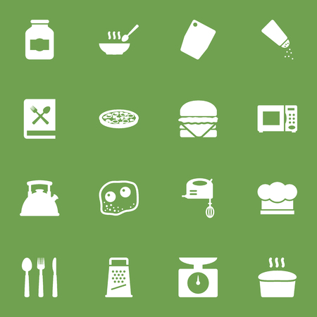 Set Of 16 Kitchen Icons Set.Collection Of Cooking Instruction, Loaf, Pepperoni And Other Elements. Vettoriali