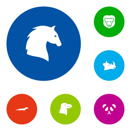 Set Of 6 Alive Icons Set.Collection Of Bear, Gecko, Wildcat And Other Elements.