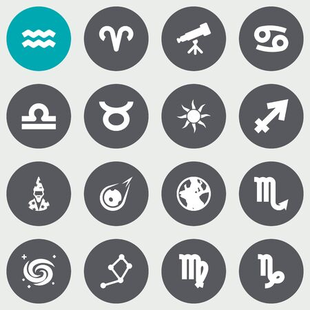 Set of 16 Astrology icons