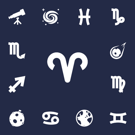 Set of 12 Astrological signs