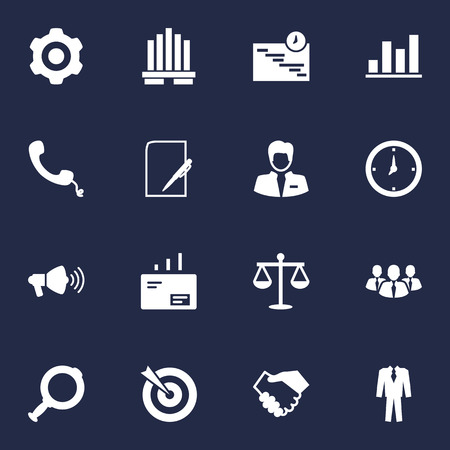 handglass: Set Of 16 Employment Icons Set.Collection Of Worker, Graph, Balance And Other Elements.