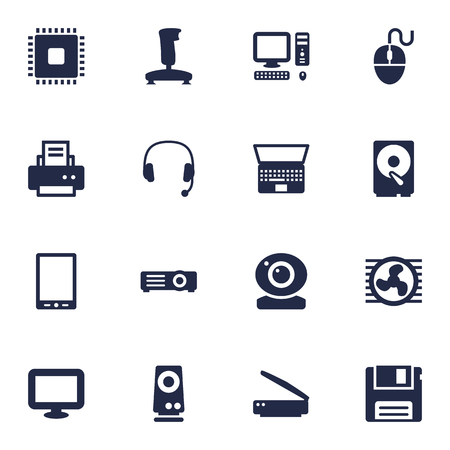 palmtop: Set Of 16 Laptop Icons Set.Collection Of Palmtop, Show, Record And Other Elements.