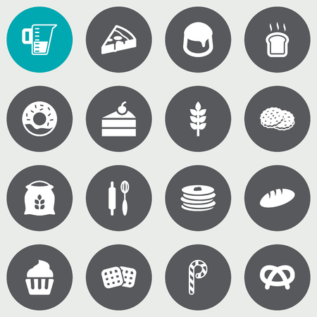 Set Of 16 Food Icons Set.Collection Of Wafer, Snack, Sweetmeat And Other Elements.