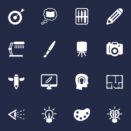 Set Of 16 Constructive Icons Set.Collection Of Science , Bulb , Stand Elements.