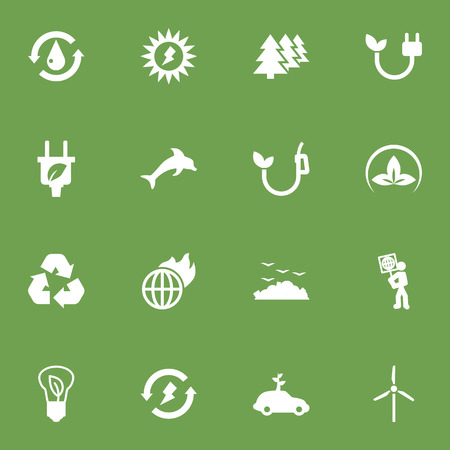 Set Of 16 Bio Icons Set.Collection Of Friendly, Rubbish, Volunteer And Other Elements.