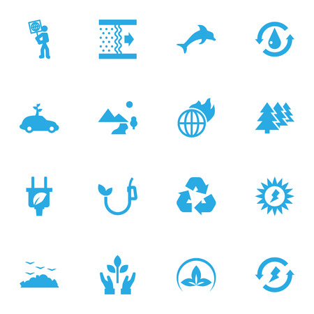 Set Of 16 Atmosphere Icons Set.Collection Of Nature, Protection, Eco And Other Elements.