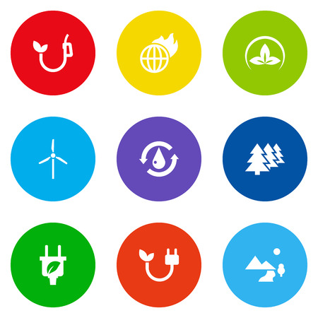 Set Of 9 Ecology Icons Set.Collection Of Treatment, Reforestation, Eco And Other Elements. Illustration
