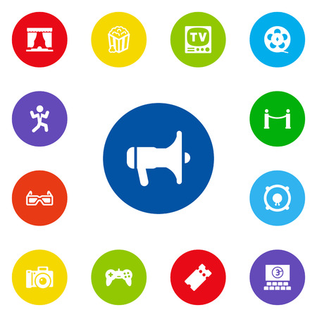 gamepad: Set Of 13 Pleasure Icons Set.Collection Of Joystick, Snack, Pass And Other Elements.