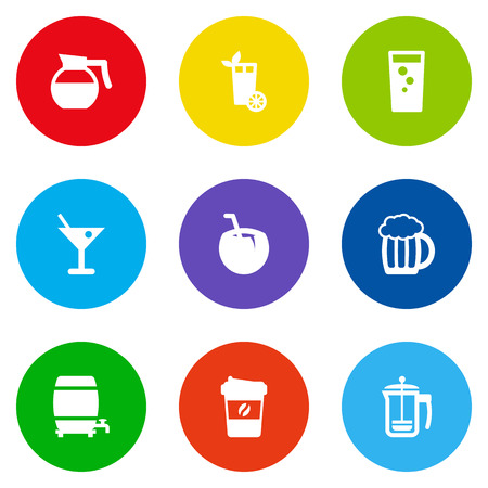 ferment: Set Of 9 Beverages Icons Set.Collection Of Espresso, Teapot, Soda And Other Elements. Illustration