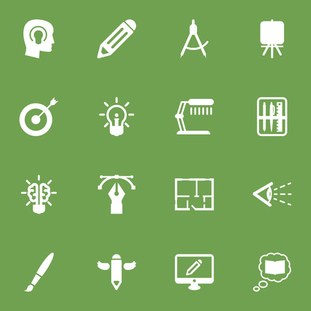Set Of 16 Constructive Icons Set.Collection Of Compass, Science, Idea And Other Elements.