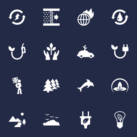 Set Of 16 Ecology Icons Set.Collection Of Car, Volunteer, Reforestation And Other Elements.