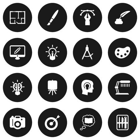 illuminator: Set Of 16 Constructive Icons Set.Collection Of Case, Idea, Illuminator And Other Elements. Illustration