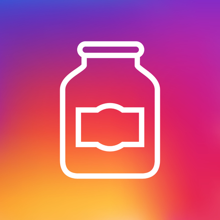 Isolated Jar Outline Symbol On Clean Background. Vector Jug Element In Trendy Style. Illustration