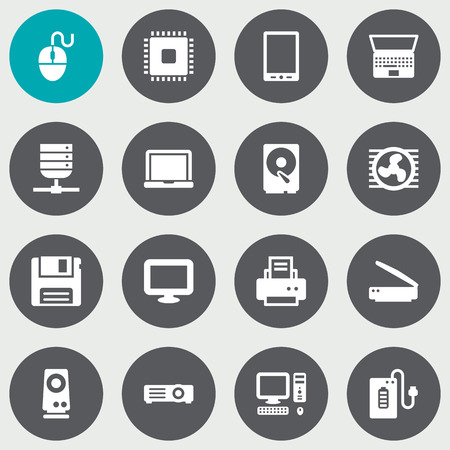 Set Of 16 Notebook Icons Set.Collection Of Supply, Display, Datacenter And Other Elements.