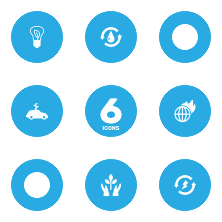 Set Of 6 Atmosphere Icons Set.Collection Of Renewable, Protection, Warm And Other Elements.