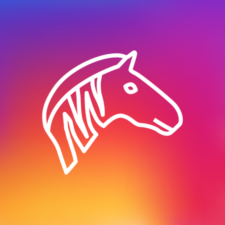 Isolated Zebra Outline Symbol On Clean Background. Vector Mammal Element In Trendy Style.