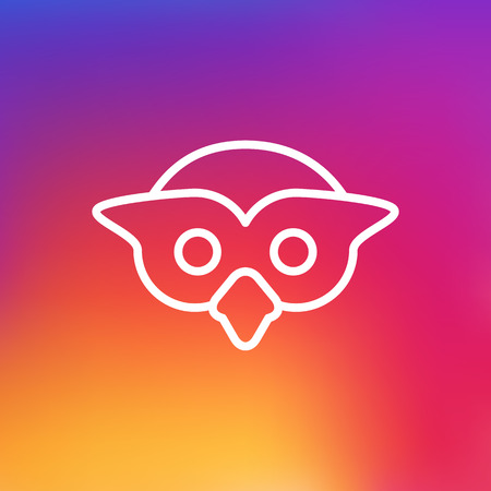 Isolated Night Fowl Outline Symbol On Clean Background. Vector Owl Element In Trendy Style.