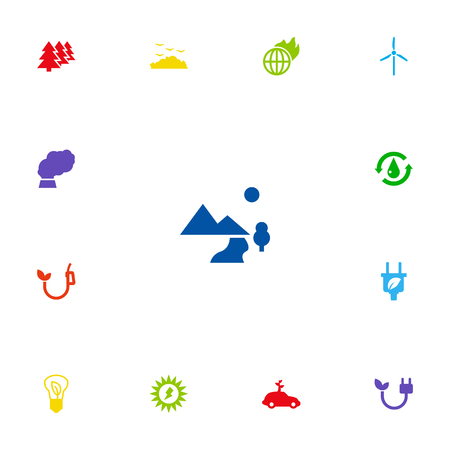 Set Of 13 Ecology Icons Set.Collection Of Warm, Rubbish, Energy And Other Elements.