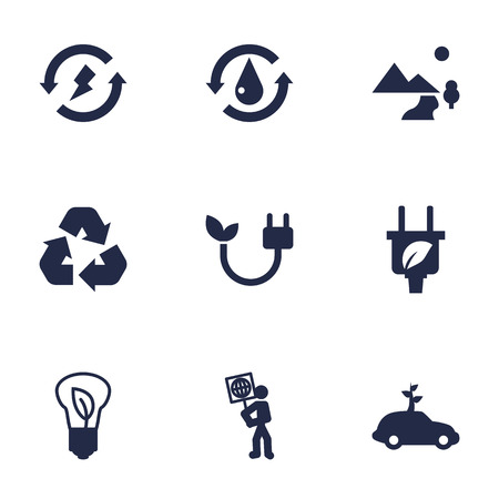 Set Of 9 Atmosphere Icons Set.Collection Of Renewable, Saving, Energy And Other Elements.